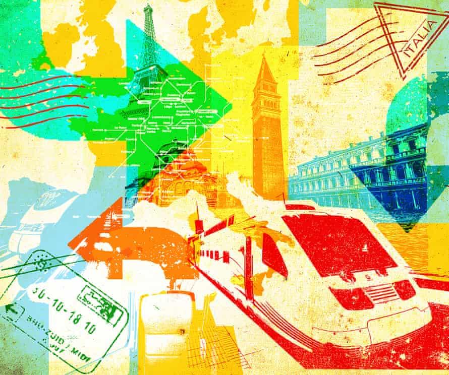 Rail travel illustration