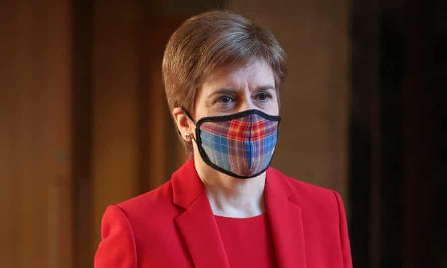 Sturgeon had been wearing a tartan mask and is believed to have taken it off briefly as she was leaving the venue.