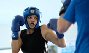Sadaf Khadem sparring