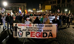 Supporters of Pegida