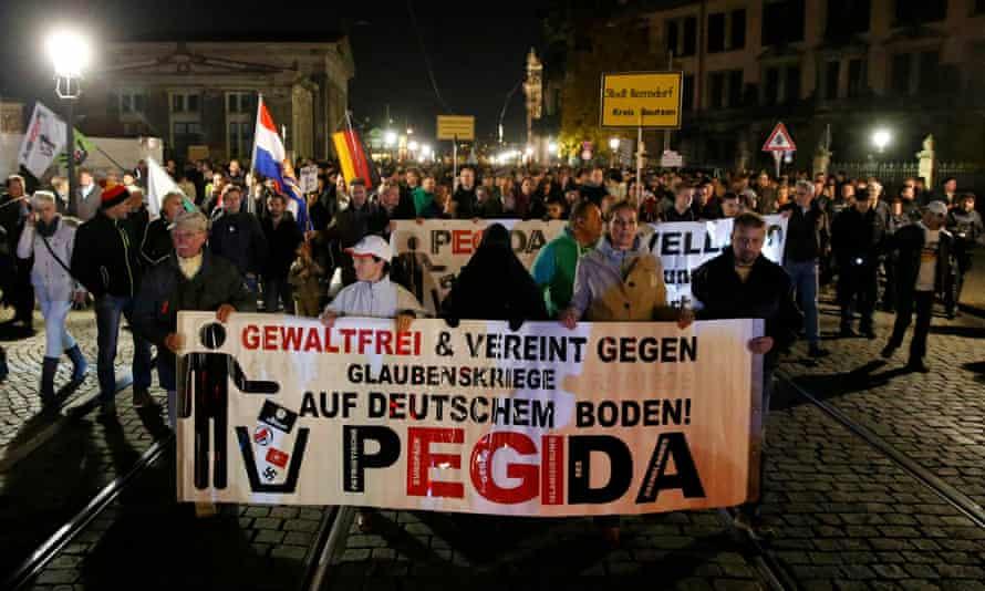 Supporters of Pegida