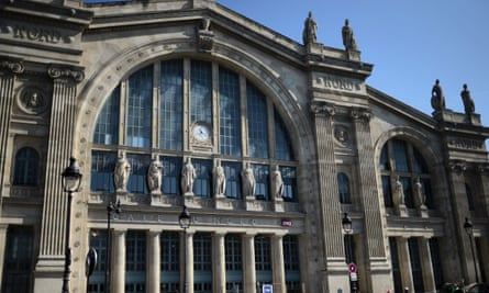 The check-in area of Gare du Nord in Paris was evacuated as a precaution.
