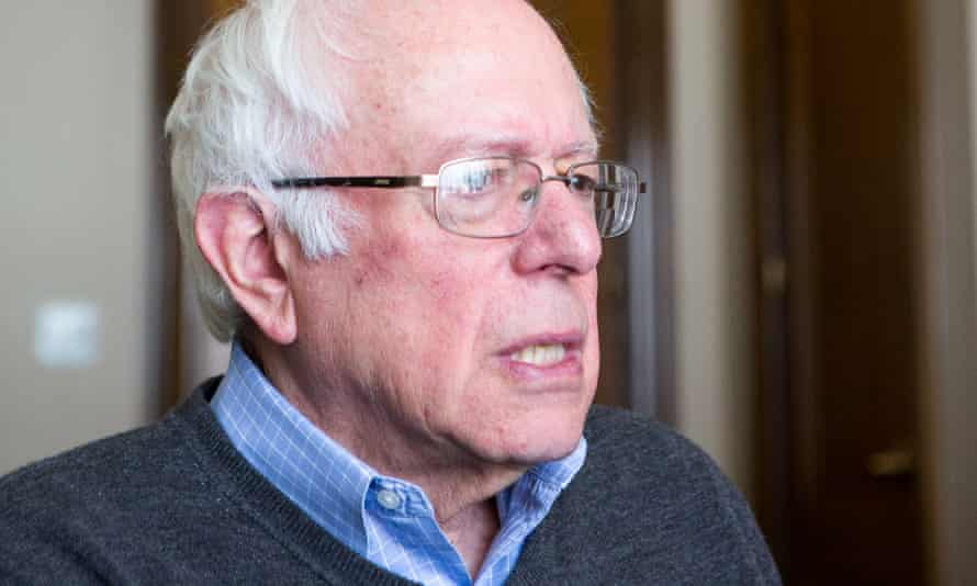 Senator Bernie Sanders at his office. 'My job is to substantially increase the number of people participating in the political process.'