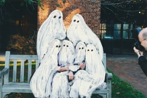 Painted found family photograph from the series These are the Ghosts of Moments by Angela Deane