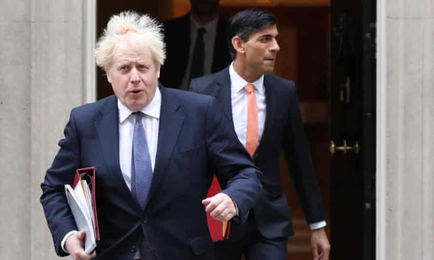Boris Johnson (left) and Rishi Sunak