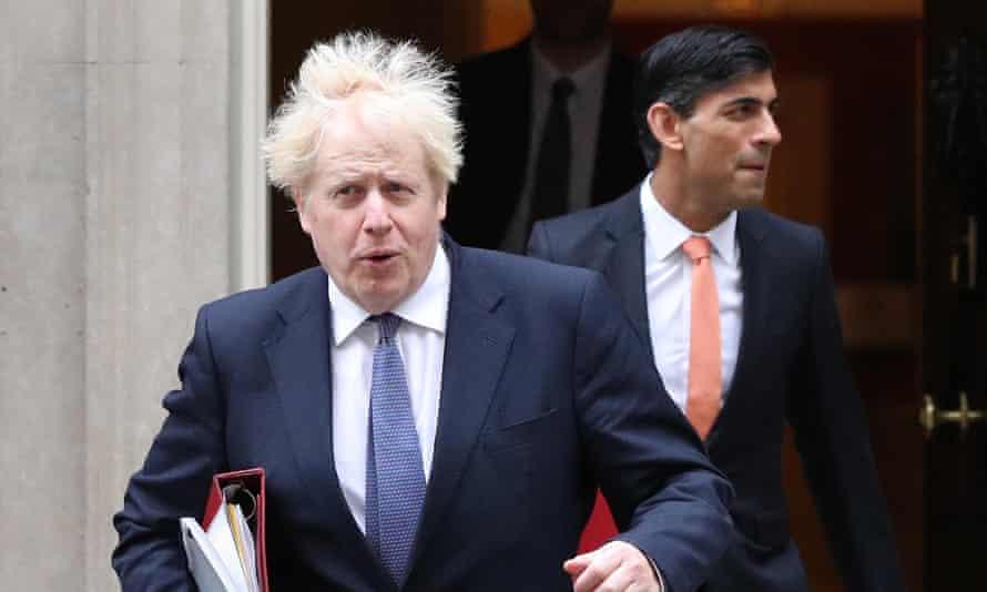 Boris Johnson and Rishi Sunak.