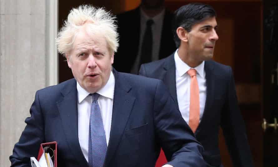 Boris Johnson and Rishi Sunak, as seen on 18 July