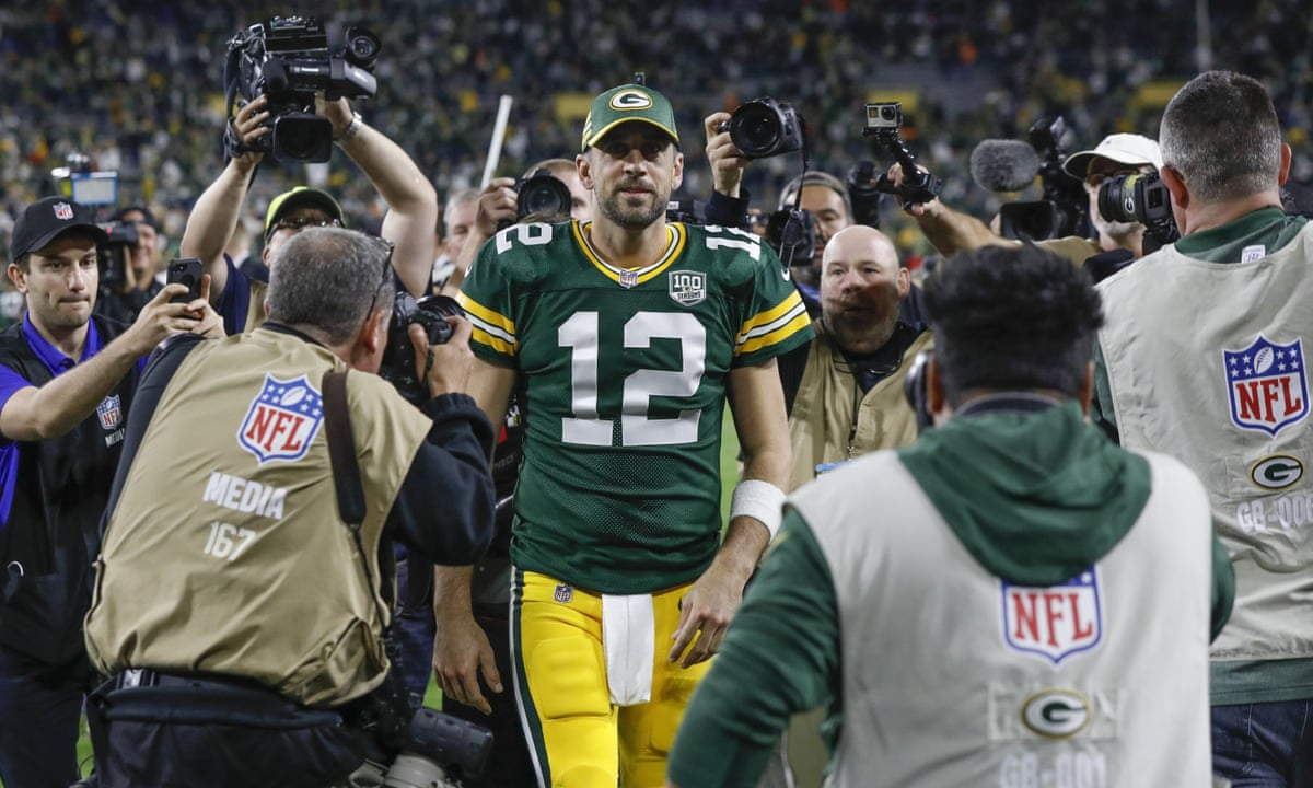 Winning A Game On One Leg We Are Lucky To Be In The Aaron Rodgers Era Sport The Guardian