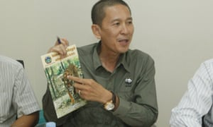 Chhith Sam Ath, Cambodian director of WWF, unveils the plan to reintroduce tigers into the dry forests of the country, where they have become virtually extinct due to poaching.