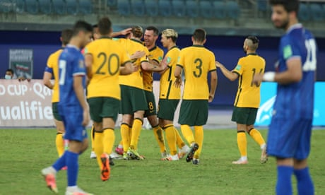 Socceroos return to World Cup qualifying in style with dominant win over Kuwait