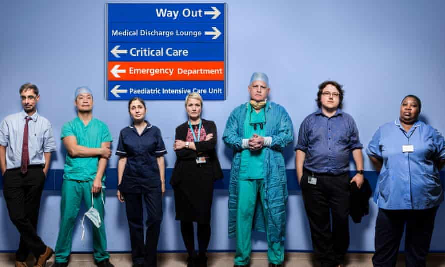 Some of the NHS staff featured in Hospital