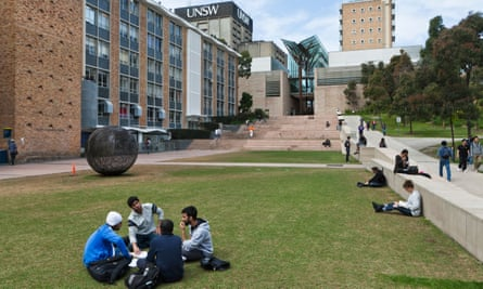 Students on the campus of the University of New South Wales (pre-Covid).