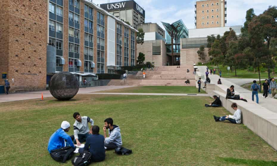 Students on the campus of UNSW