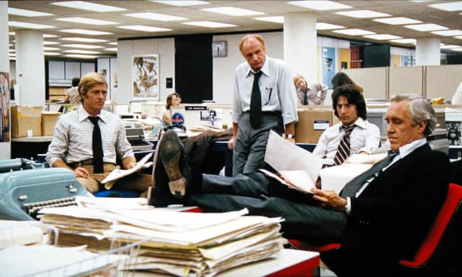 'It is a pre-digital realm of rotary phones, filing cabinets, steno pads and typewriters; the newsroom is an exact match for the newsroom in All the President's Men …'