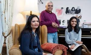 Mandira Sarkar with her husband Samin and daughter Mahera