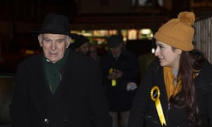 Sir Vince Cable campaigning during the election with Luciana Berger.