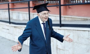 Italy's oldest student, Giuseppe Paterno, 96