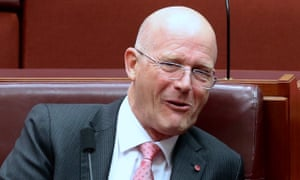 David Leyonhjelm in the senate chamber of Parliament House.