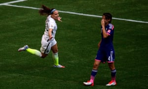 Lauren Holiday wheels off in celebration after putting USA three up.