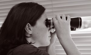 Equal treatment remains a long way off ... young woman looking through binoculars.