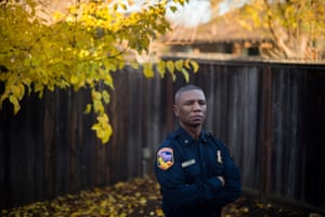 Firefighter Ken Lowe at his home in Redding, California.