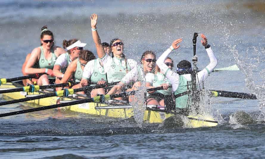 Cambridge's women celebrate their success.