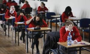 Children sitting an exam