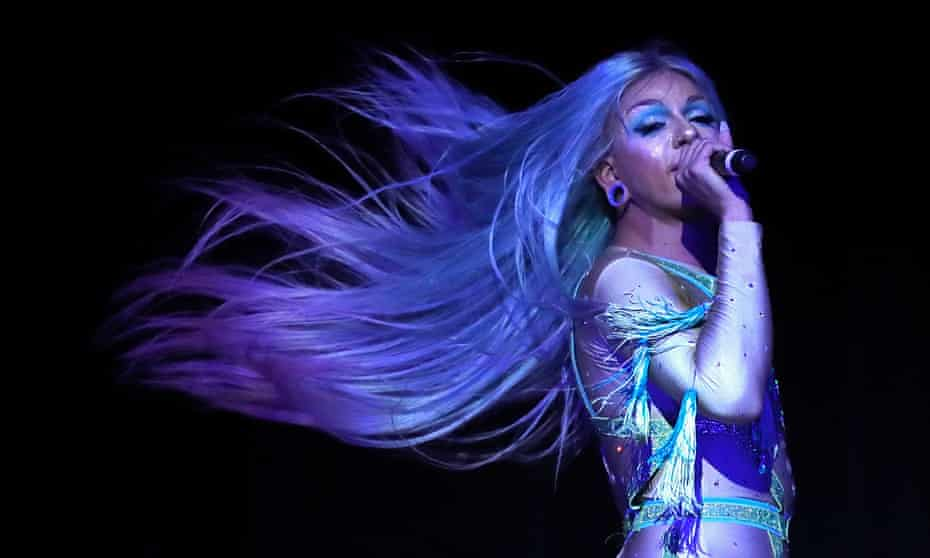 Aja performs at the DragCon World of Queens party in New York, September 2018.