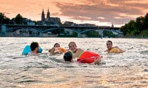 Swimming the Rhine in Basel
