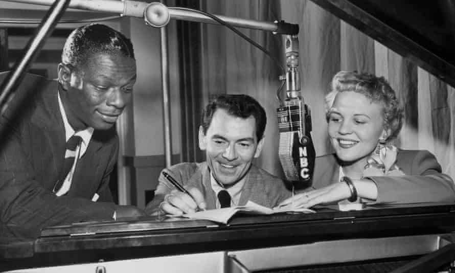 Peggy Lee with Nat King Cole and her partner David Barbour.
