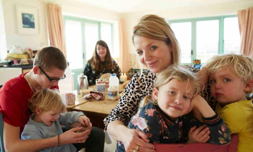 A painful, wonderful world … Clover Stroud and family at home.