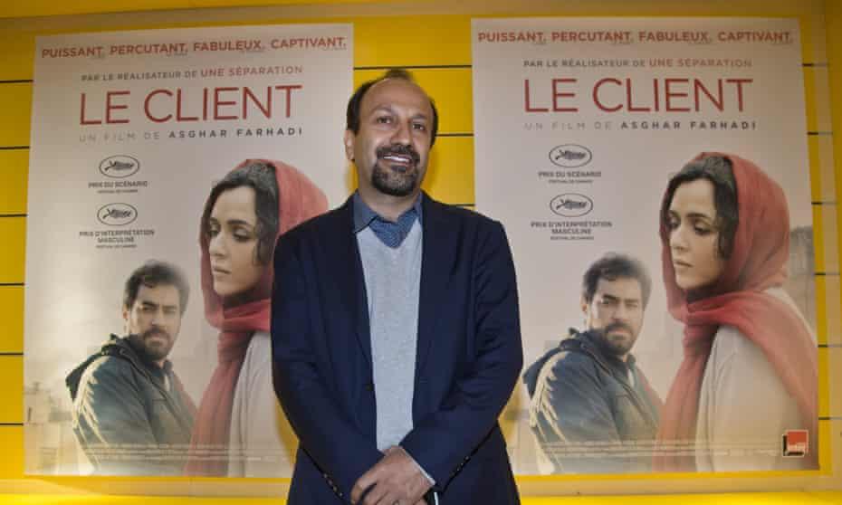 Director Asghar Farhadi at the Paris premiere of his Oscars contender, The Salesman.