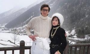 Adam Driver dan Lady Gaga di lokasi syuting House of Gucci