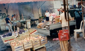 A street market in Sicily from Two Kitchens by Rachel Roddy, published by Headline Home 2017
