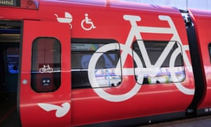 A cycle, pushchair and wheelchair carriage on Copenhagen' S-Train.