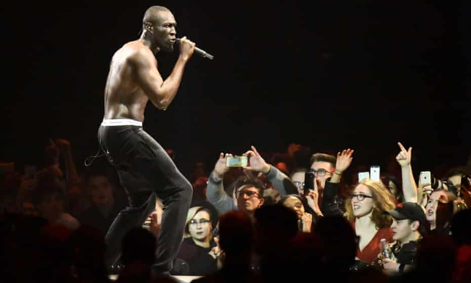 Stormzy at the Brit awards earlier this year.