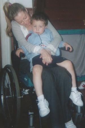 Kara Houston with her son