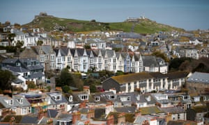 St Ives in Cornwall, where many properties are owned as holiday homes.