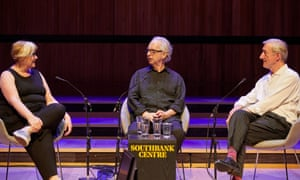 Peter Carey and Julian Barnes in conversation with Alex Clark at the Southbank Centre in London.