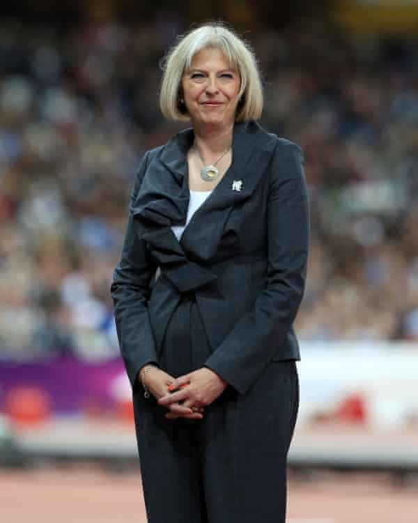 Theresa May in 2012, when she was home secretary.