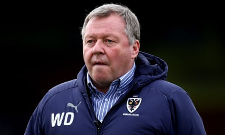 AFC Wimbledon manager Wally Downes banned for 28 days for betting breaches