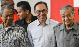 Anwar Ibrahim with Mahathir Mohamad