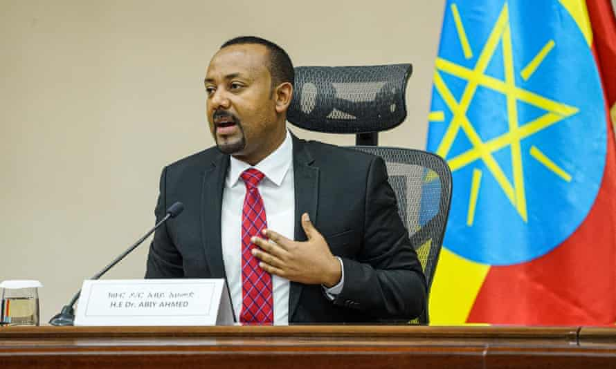 Abiy Ahmed speaks at the House of Peoples Representatives in Addis Ababa