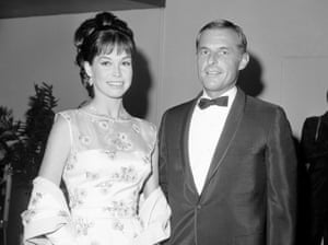 Tyler Moore with her husband Grant Tinker