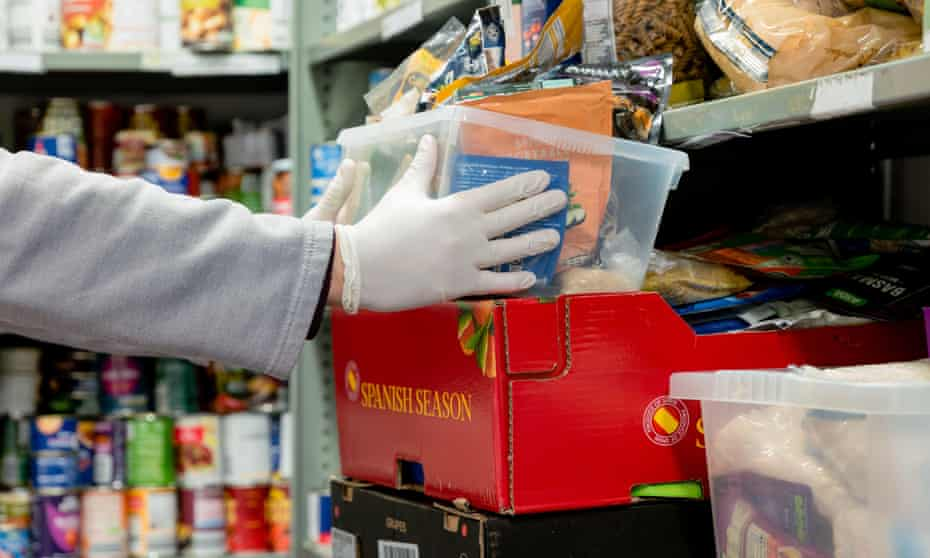 Food parcel at food bank