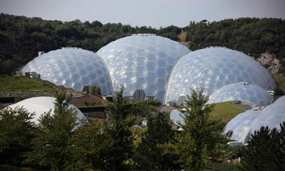 Bond location with a garden attached … the Eden Project needed 2 million plants and 90,000 tonnes of soil.