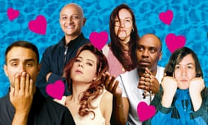 From left: Jamie Demetriou, Arnab Chanda; Lou Sanders, Phoebe Walsh; Dane Baptiste; Johnny White.