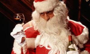 Santa with wine