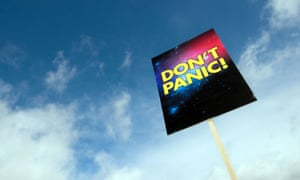 A Hitchhiker's Guide to the Galaxy sign on London's south bank