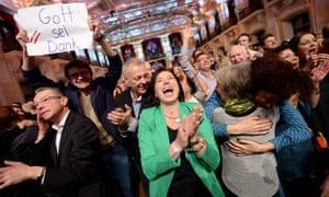 Van der Bellen's supporters
